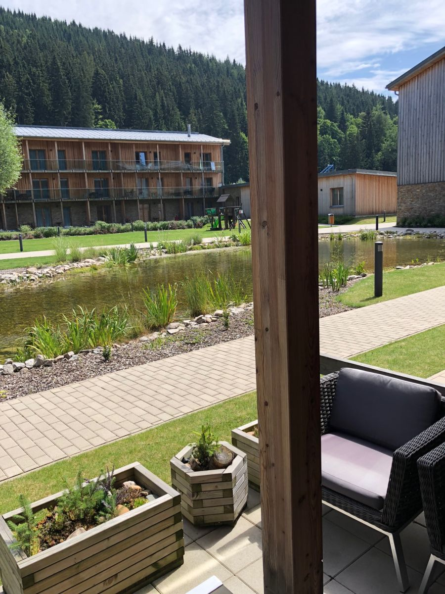 Apartmán Špindlerův Mlýn - výhled z apartmánu